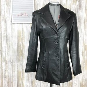 Wilsons black leather jacket size S